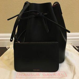 Mansur Gavriel Vegetable-Tanned Leather Bucket Bag